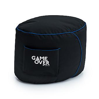 GAME OVER Cerulean Lightning (Blue) Bean Bag Gaming Footstool Pouffe