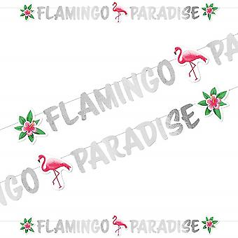 Flamingo Beach Party Flamingo Paradise Girlande 1,35 m Sommer Grill Fest Geburtstagsparty