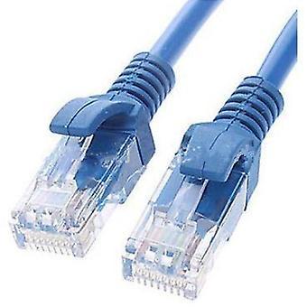 CAT5e kabel 1m-blå farge Premium RJ45 Ethernet-nettverk