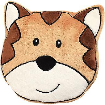 Children's Plush Velour Cherry Stone Cushion: Tiger
