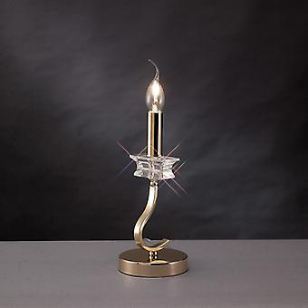 Nydia Table Lamp 1 Light French Gold/crystal