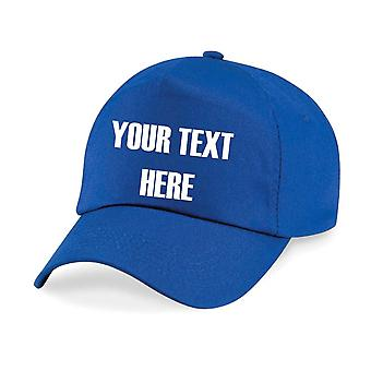 Kids Personalised Your Text Here Baseball Cap