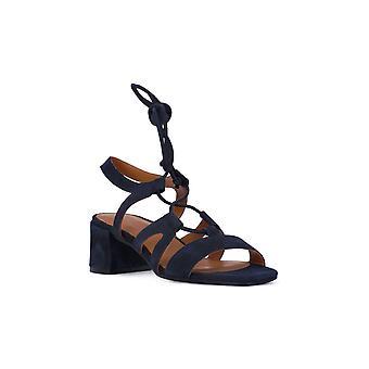 Frau suede navy sandals