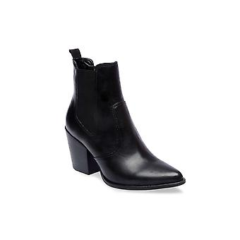 Steve Madden Womens Patricia Leather Pointed Toe Ankle Chelsea Boots