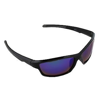 Sonnenbrille UV 400 Sport Rechteck PolarisierenGlas lila reflektierend S371_7 FREE BrillenkokerS371_7