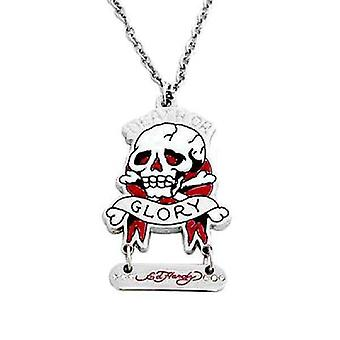 Necklace Silver Ed Hardy death or Glory