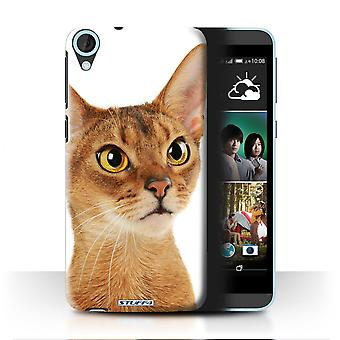 STUFF4 Case/Cover for HTC Desire 820q Dual/Abyssinian/Cat Breeds