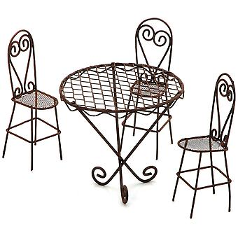 Timeless Miniatures Wire Garden Table & Chairs Set 6612 031