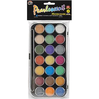 Pearlescent Watercolor Paint Cakes 21 Pkg Assorted Colors Npwc21