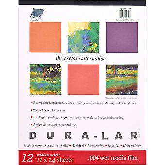 Duralar Clear .004 Wet Media Pad 12 Sheets 11