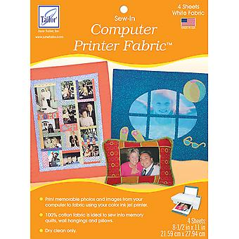 Sew In Computer Printer Fabric White 8 1 2