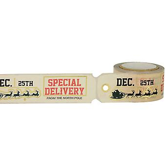 Little B Decorative Foil Tape 25mmx8m-Christmas Tag Die Cut Gold Foil LBFT25X8-2243