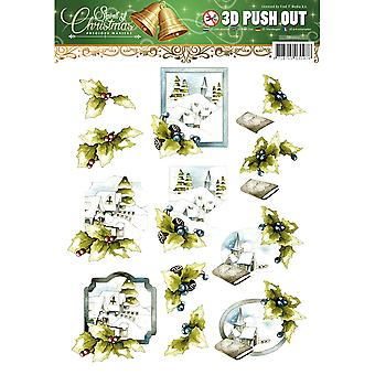 Find It Trading Precious Marieke Punchout Sheet-Spirit Of Christmas SB10117