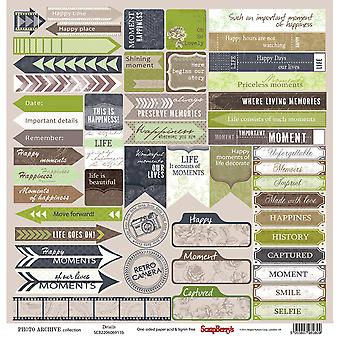 ScrapBerry's Photo Archive Single-Sided Cardstock 12