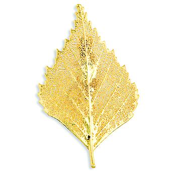 24k Gold Dipped Birch Leaf Pin
