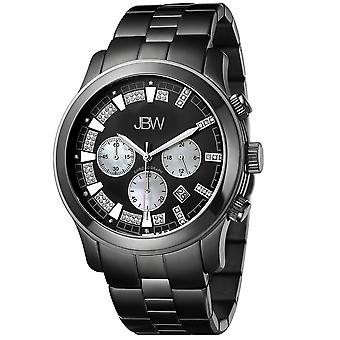 JBW diamond men's stainless steel watch DELANO - black