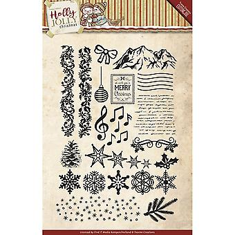 Find It Trading Yvonne Creations Clear Stamp-Holly Jolly CCS10025