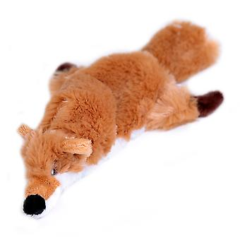 Flat Friend Skin Squeaky Dog Toy Fox 32cm (12.5