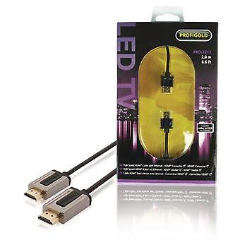 Profigold-Ultraslim LED HDMI cable 2 m