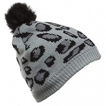 KITSOUND Headphone Beanie Grey Leopard Print