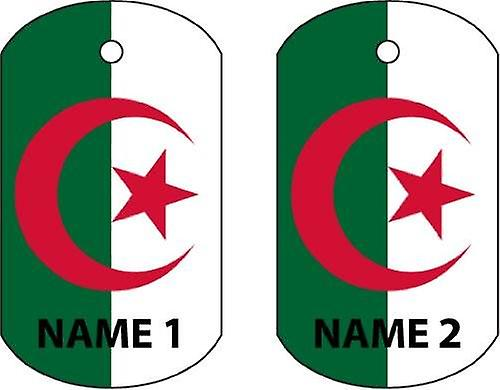 Personalised Algeria Dog Tag Car Air Freshener