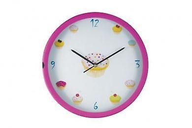 Wall Clock Cupcakes Design