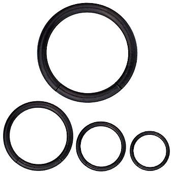 Segment Ring Piercing Black Body Jewellery, Thickness 1,6 mm | Diameter 8 - 14 mm