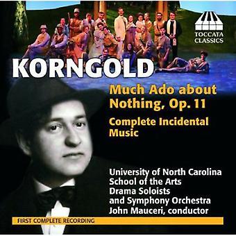 Erich Wolfgang Korngold - Erich Korngold: Stor ståhej for ingenting, Op. 11 (komplet scenemusik) [CD] USA importerer