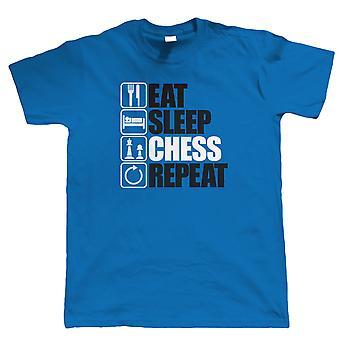 Vectorbomb, jeść snu szachy Repeat, Mens śmieszne intelektualnej T Shirt (od S do 5XL)