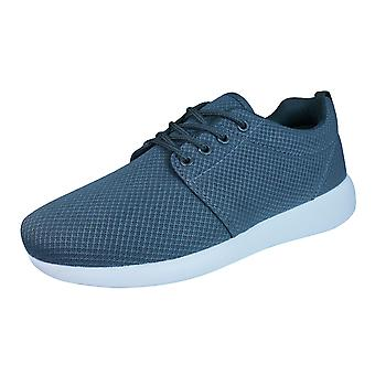 DT New York Mens Lace Up Trainers / Shoes - Grey