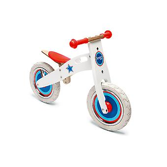Scratch - Balance Bike Large - Wit Met Ster