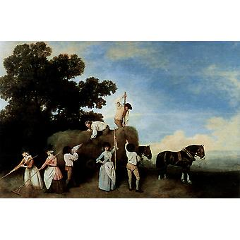 George Stubbs - The Chase Poster Print Giclee