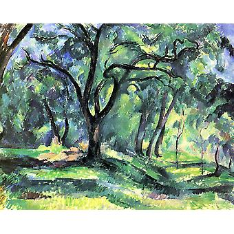 Paul Cezanne - Dark Tree Poster Print Giclee
