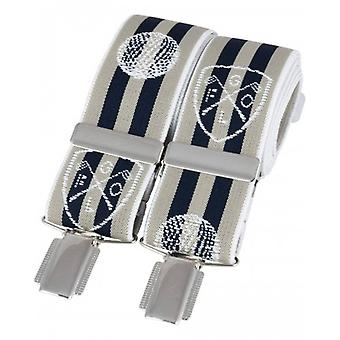 David Van Hagen Golf Braces - Navy/Beige