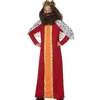 Børns kostumer klog mand/kongen Red