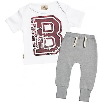 Verwöhnte faulen Big Brother Baby T-Shirt & Jogger-Outfit-Set