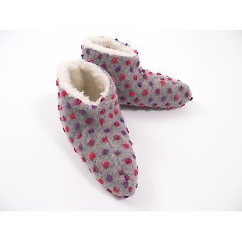 Bed shoes wool studs silver 44/45