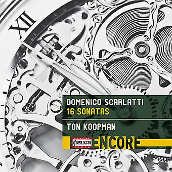 Scarlatti / Koopman - Domenico Scarlatti: 16 Sonatas [CD] USA importación