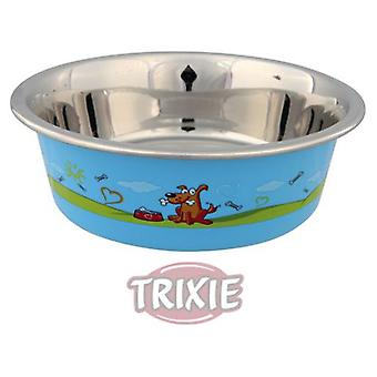 Trixie Plastic Covered Stainless Steel Trough (Dogs , Bowls, Feeders & Water Dispensers)