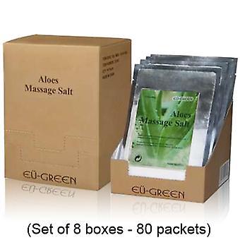 Real masaje Natural mar sal Mineral masaje limpieza sales caso (paquetes de 80g x 80) - Aloe