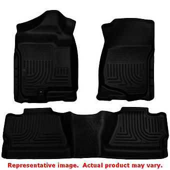 Husky Liners 98201 WeatherBeater negro frente y asiento 2 ajustes: CHEVROLET 2007-2