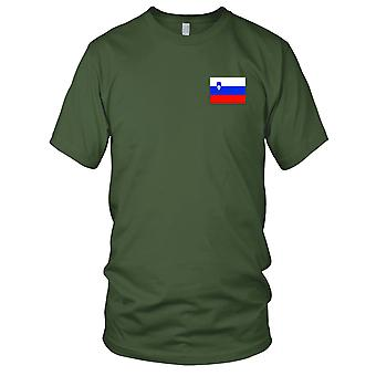 Slovenia Country National Flag - Embroidered Logo - 100% Cotton T-Shirt Kids T Shirt