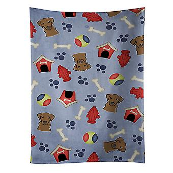 Dog House Collection Chocolate Labrador Kitchen Towel
