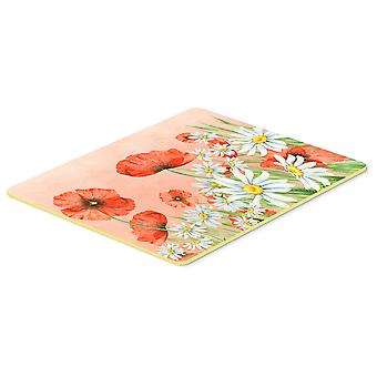 Carolines Treasures  BB7448CMT Poppies and Chamomiles Kitchen or Bath Mat 20x30