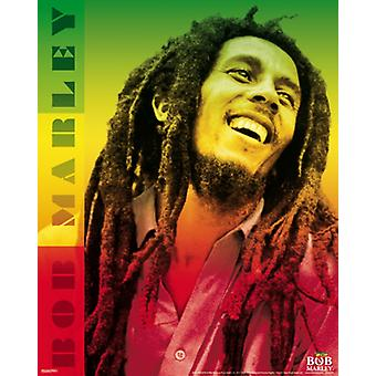 Bob Marley - couleurs affiche Poster Print