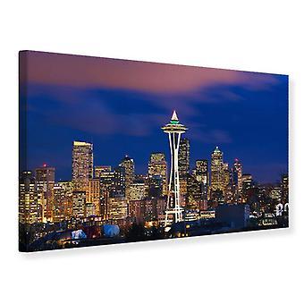 Lærred Print Skyline Seattle