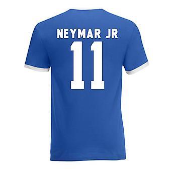 Neymar Brasilien Ringer Tee (blau)
