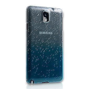 Yousave Tillbehör Samsung Galaxy Note 3 vattendroppe hårt fodral - blå