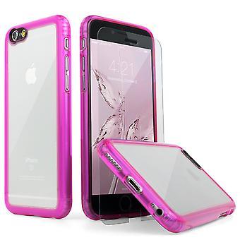 SaharaCase® iPhone 6/6s caja rosa, paquete de Kit de protección claro con ZeroDamage® vidrio templado