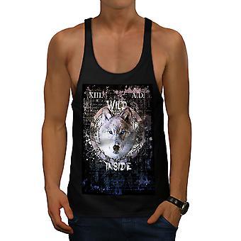 Wild Wolf Beast Men BlackGym Tank Top   Wellcoda